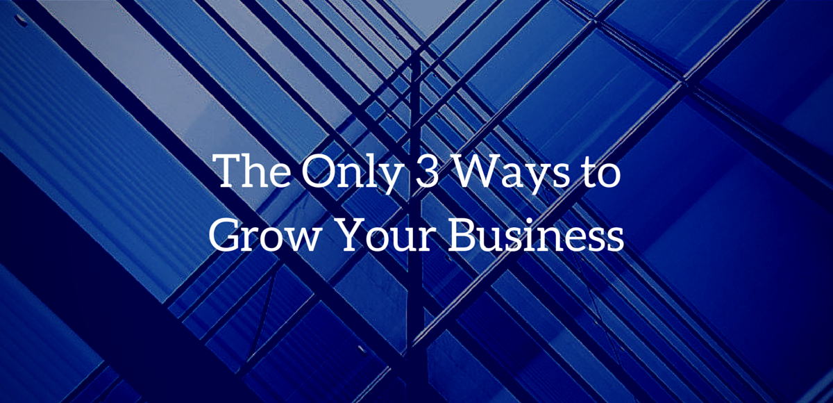 The Only 3 Ways to Grow Your Business
