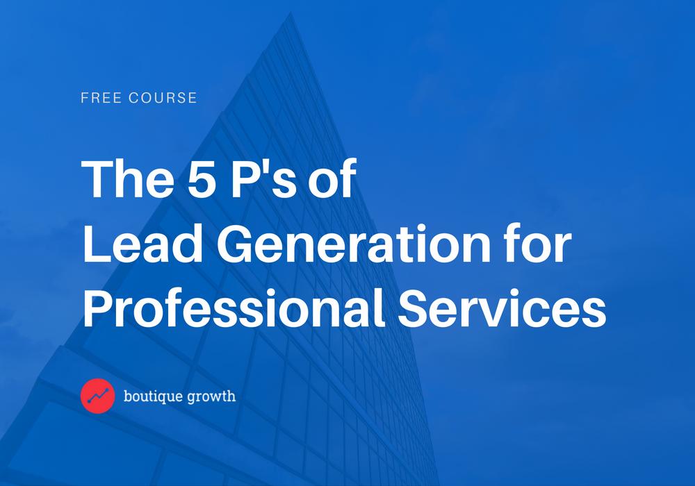 Lead Generation Course