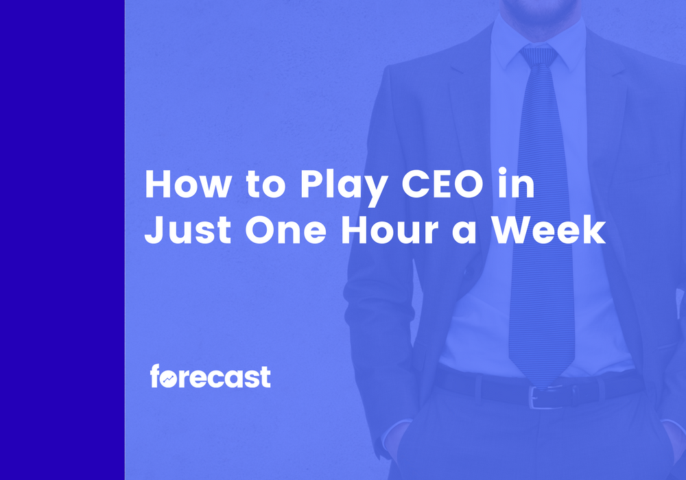 How to Play CEO in Just One Hour a Week