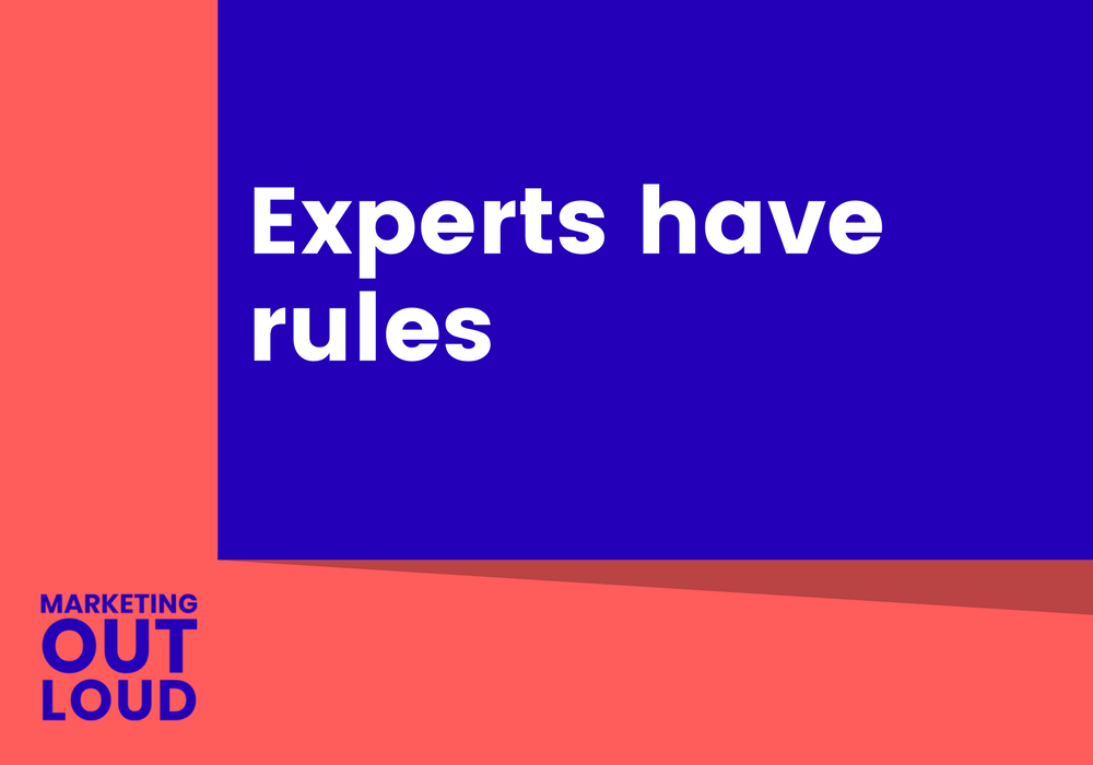 Experts have rules