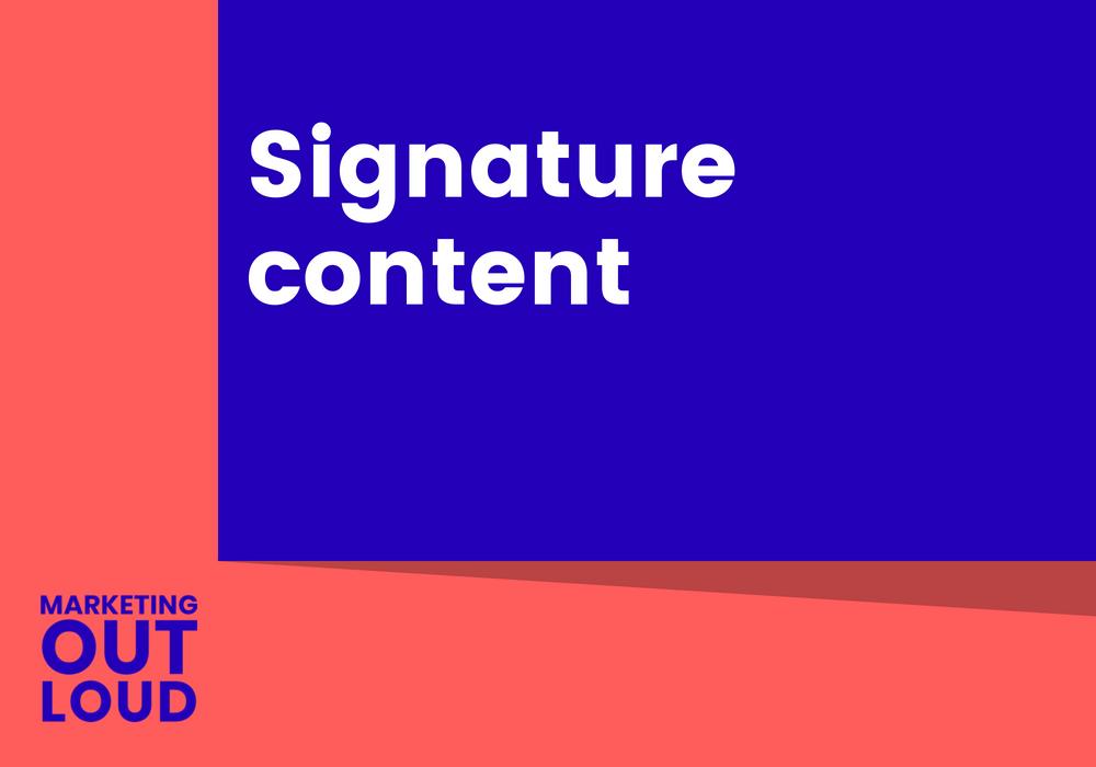Signature content