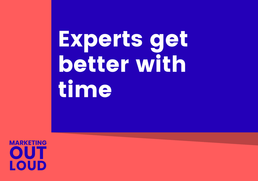Experts get better with time