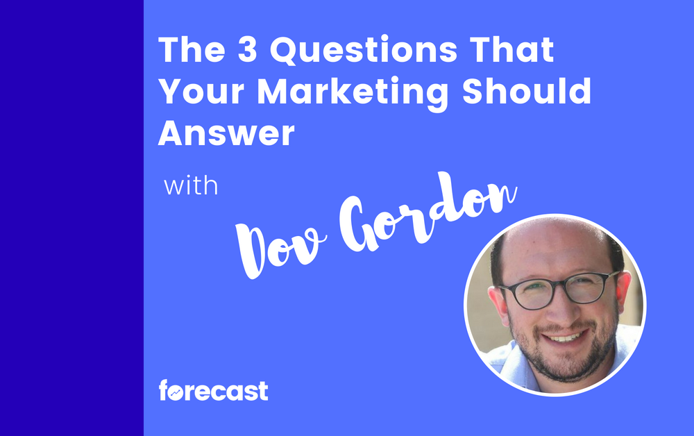 The 3 Questions That Your Marketing Should Answer with Dov Gordon