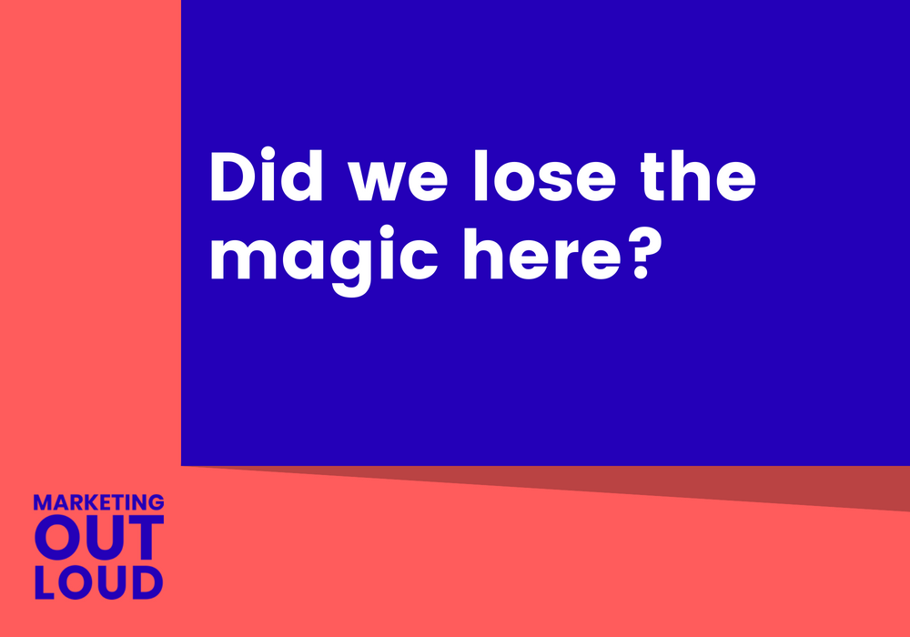 Did we lose the magic here?