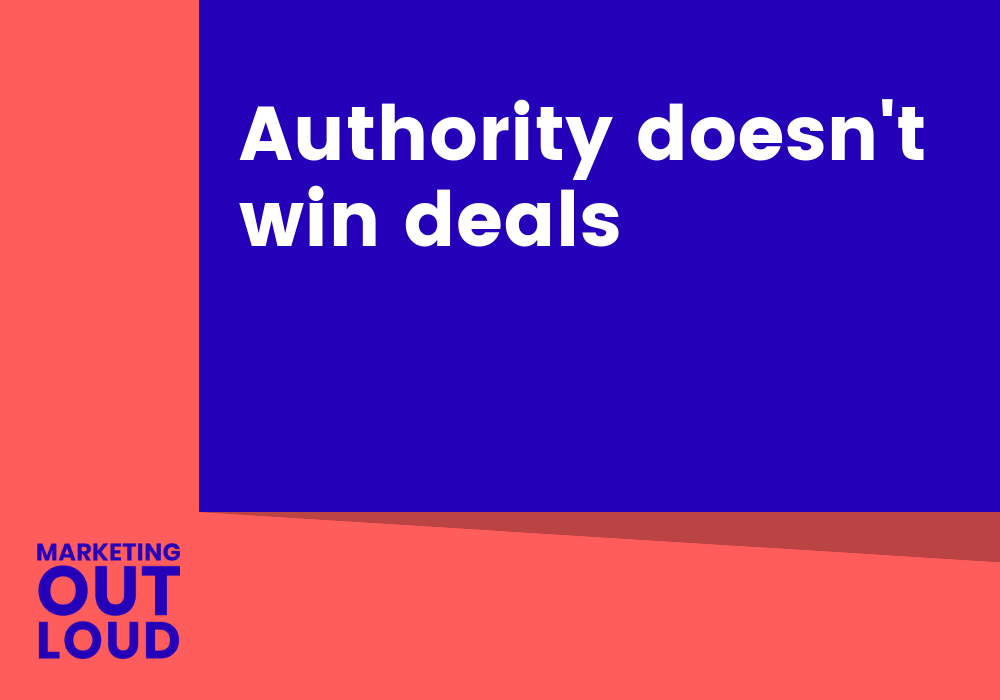 Authority doesn't win deals