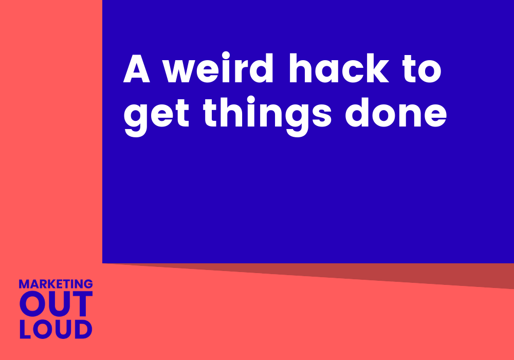 A weird hack to get things done
