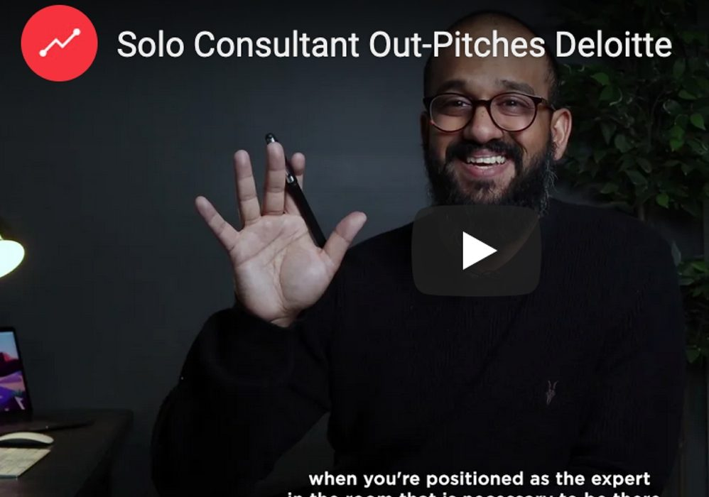 Solo Consultant Out-Pitches Deloitte